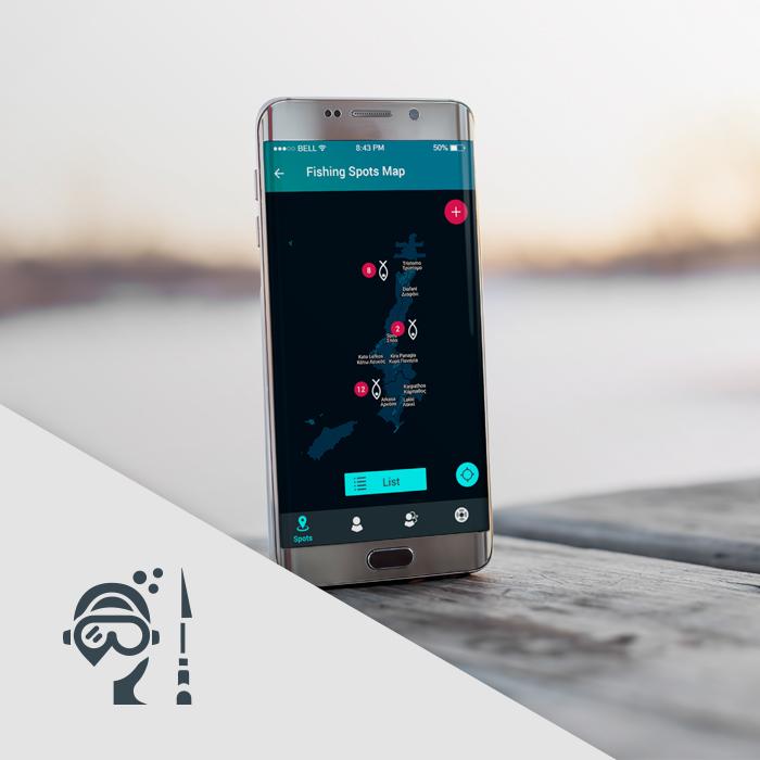 BlueSpear mobile app design & logo design